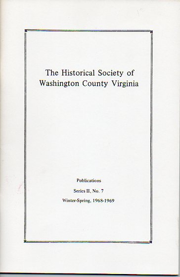 Image for The Historical Society of Washington County Virginia Publication