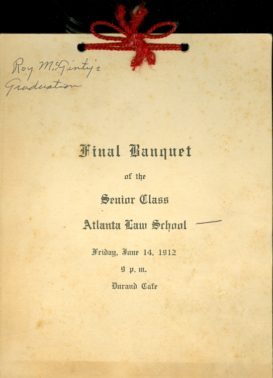 Image for Final Banquet of the Senior Class Atlanta Law School