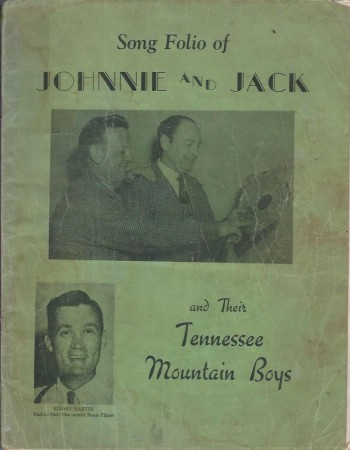 Image for Song Folio of Johnnie and Jack and Their Tennessee Mountain Boys
