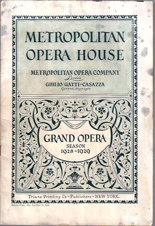 Image for Grand Opera Season, 1928 - 1929