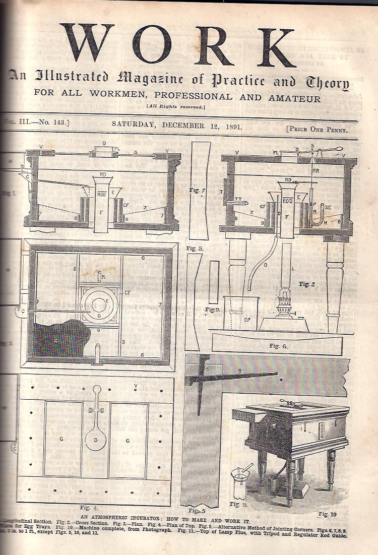 Image for Work -- 1891-92 :An Illustrated Magazine of Practice and Theory for All Workmen, Professional and Amateur