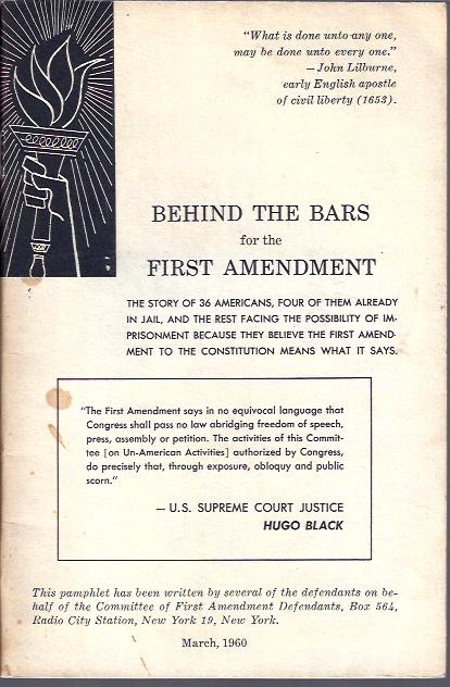 Image for Behind the Bars for the First Amendment