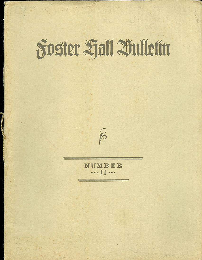 Foster Hall Bulletin
