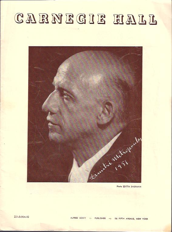 Image for Carnegie Hall Program