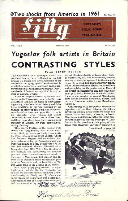 Image for Sing  : Britain's Folk Song Magazine
