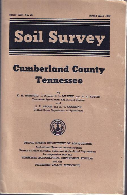 Image for Soil Survey : Cumberland County Tennessee