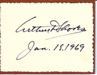 Image for Arthur Shores Autograph