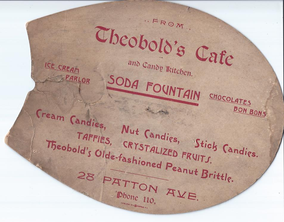 Image for Theobold's Cafe and Candy Kitchen Advertising Fan