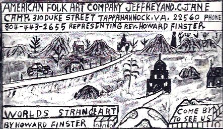 Image for Howard Finster Made Postcard : American Folk Art Company
