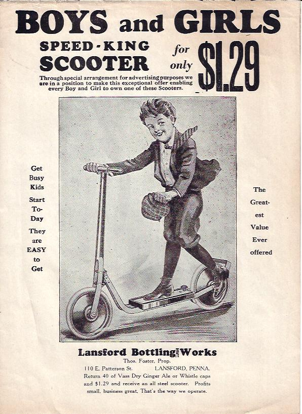 Image for Ad, Boys and Girls Speed-King Scooter