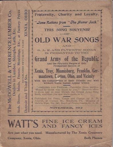 Image for This Song Souvenir of Old War Songs and G. A. R. and Patriotic Songs