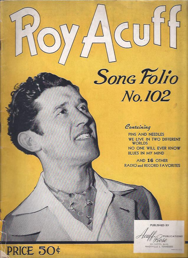 Image for Roy Acuff, Song Folio No. 102
