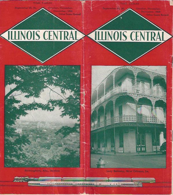 Image for Illinois Central, Timetables, 1946
