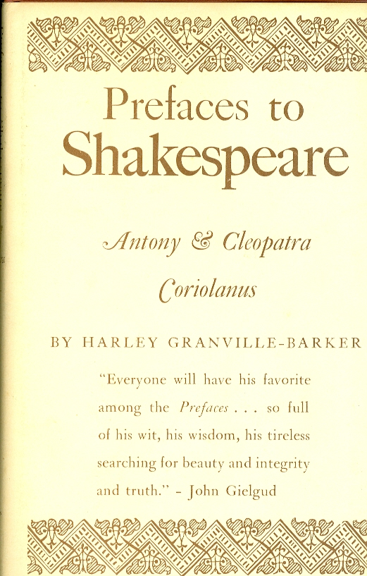 Image for Prefaces to Shakespeare: Anthony & Cleopatra, Coriolanus