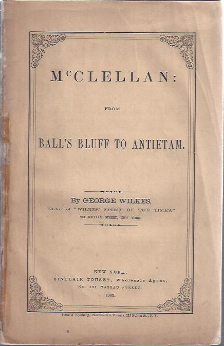 Image for McClellan from Ball's Bluff to Antietam