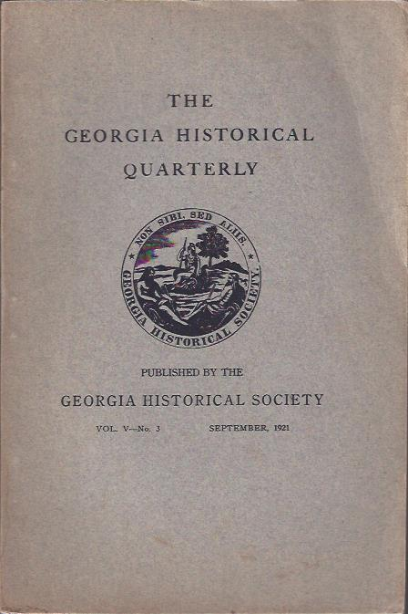 Image for The Georgia Historical Quarterly, September 1921