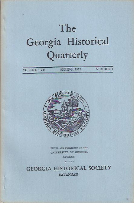 Image for The Georgia Historical Quarterly, Spring 1973
