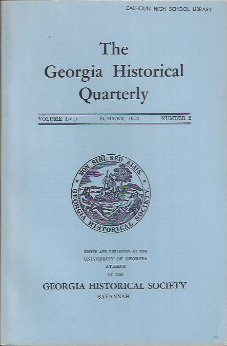 Image for The Georgia Historical Quarterly, Summer 973