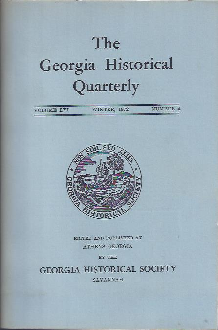 Image for The Georgia Historical Quarterly, Winter 1972