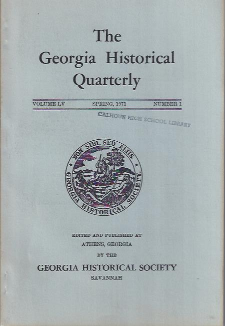 Image for The Georgia Historical Quarterly, Spring 1971