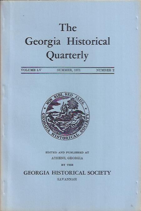 Image for The Georgia Historical Quarterly, Summer 1971