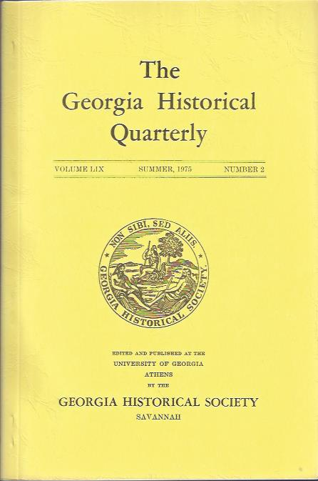 Image for The Georgia Historical Quarterly, Summer, 1975