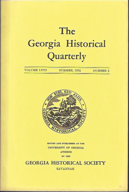 Image for The Georgia Historical Quarterly, Summer, 1974