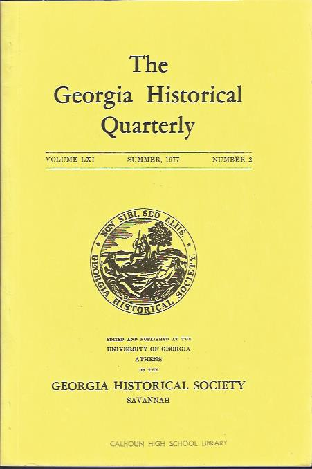 Image for The Georgia Historical Quarterly, Summer, 1977