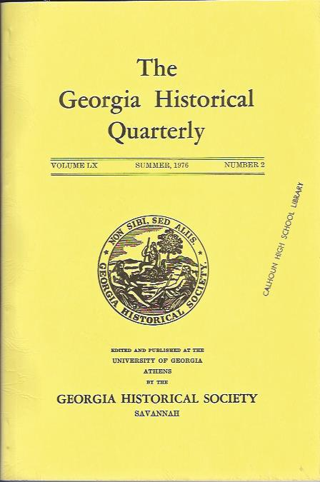 Image for The Georgia Historical Quarterly, Summer, 1976