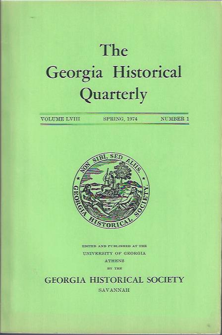 Image for The Georgia Historical Quarterly, Spring, 1974