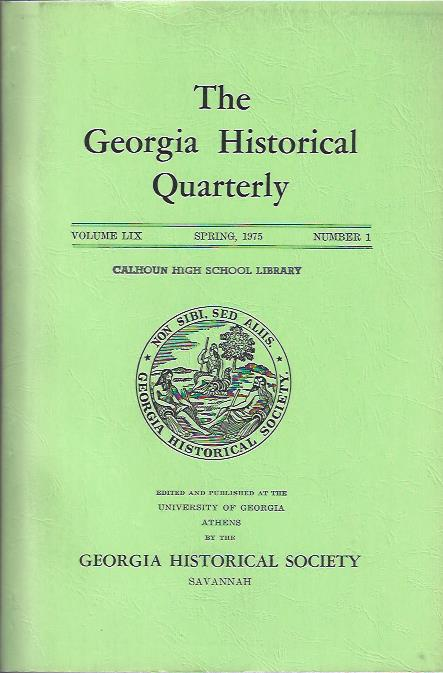 Image for The Georgia Historical Quarterly, Spring, 1975