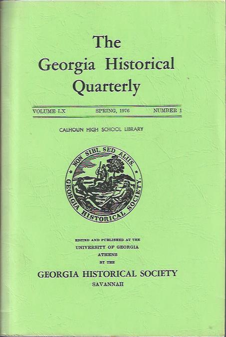 Image for The Georgia Historical Quarterly, Spring, 1976