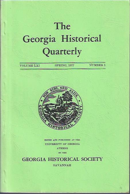 Image for The Georgia Historical Quarterly, Spring, 1977