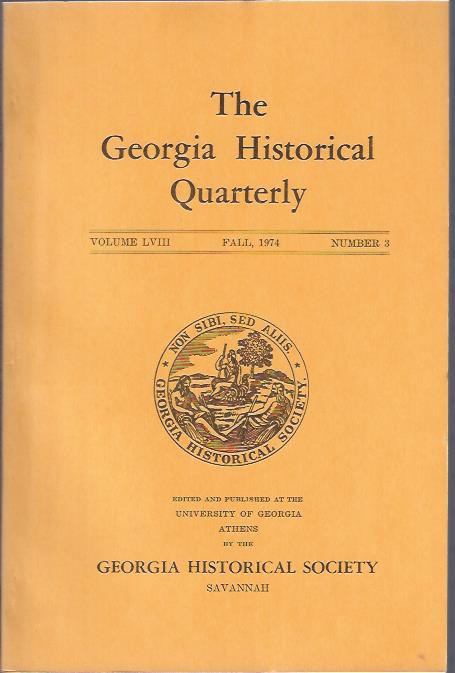 Image for The Georgia Historical Quarterly, Fall,1974