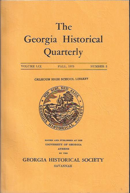 Image for The Georgia Historical Quarterly, Fall,1975