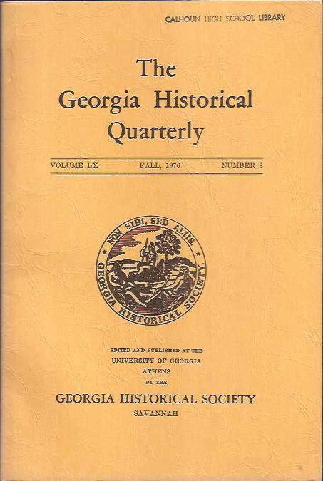 Image for The Georgia Historical Quarterly, Fall,1976