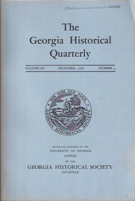 Image for The Georgia Historical Quarterly, December, 1968
