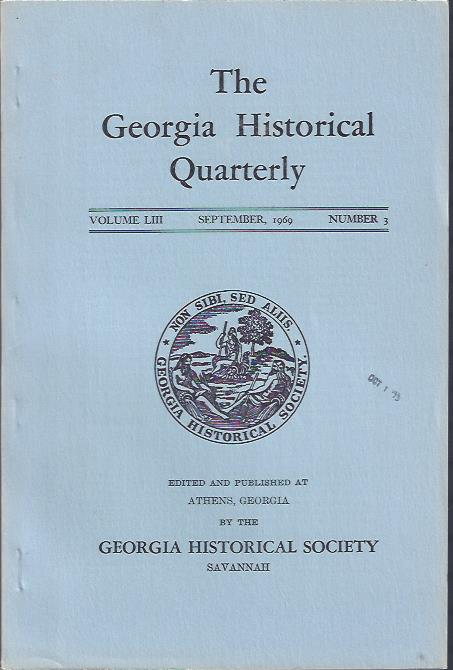 Image for The Georgia Historical Quarterly, September, 1969