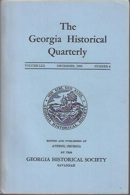 Image for The Georgia Historical Quarterly, December, 1969