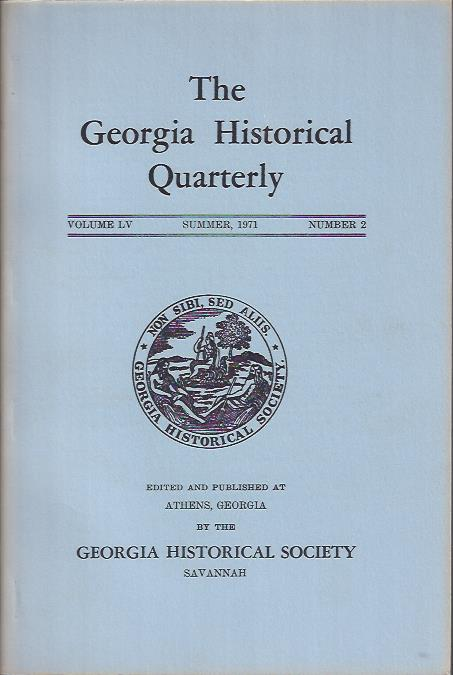 Image for The Georgia Historical Quarterly, Summer, 1971