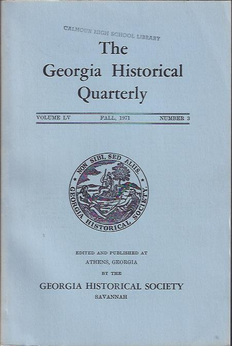 Image for The Georgia Historical Quarterly, Fall, 1971