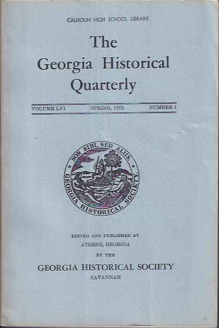 Image for The Georgia Historical Quarterly, Spring, 1972
