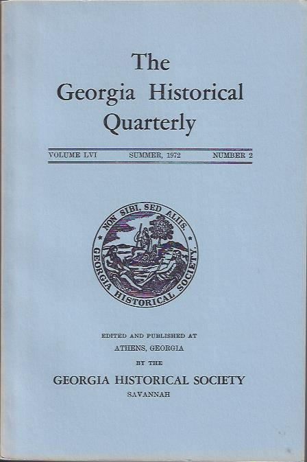 Image for The Georgia Historical Quarterly, Summer, 1972