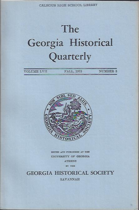 Image for The Georgia Historical Quarterly, Fall, 1973