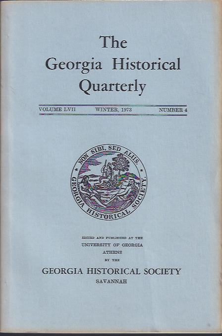 Image for The Georgia Historical Quarterly, Winter, 1973