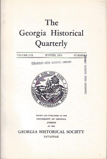 Image for The Georgia Historical Quarterly, Winter, 1975