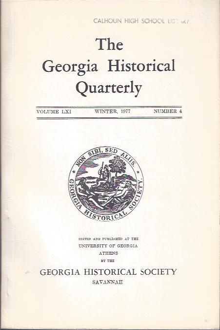 Image for The Georgia Historical Quarterly, Winter, 1977