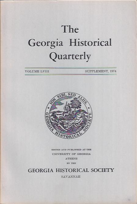 Image for The Georgia Historical Quarterly, Supplement, 1974