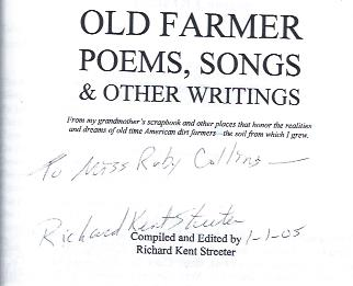 Image for Old Farmer Poems, Songs & Other Writings