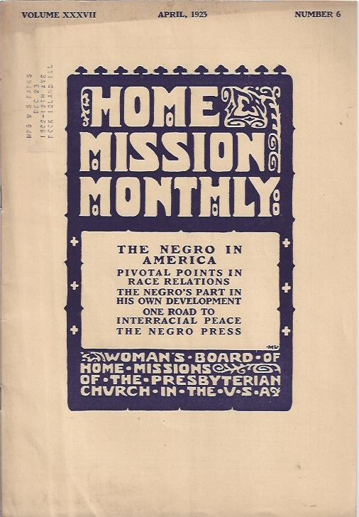 Image for Home Mission Monthly, April, 1925